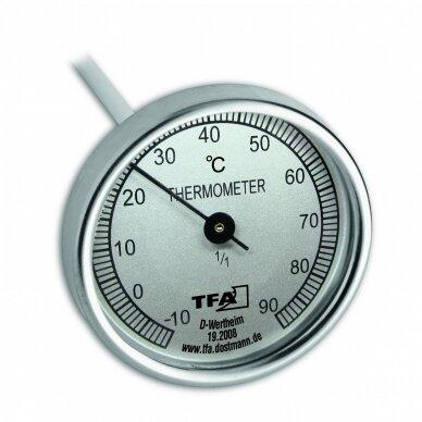 Analoginis termometras su 40cm zondu kompostui TFA 19-2008 2