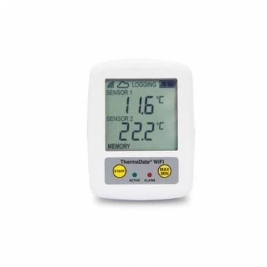 Daugkartinis registratorius ekstremalios temperatūros (-100°C iki 1372°C) matavimui su aliarmu ir wifi ThermaData TD2TC