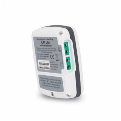 Ekstremalios temperatūros (matavimo diapozonas nuo -100 iki 1372 °C) matavimams skirtas daugkartinis registratorius ThermaData TD2TC su aliarmu ir WiFi ETI 298-121 2