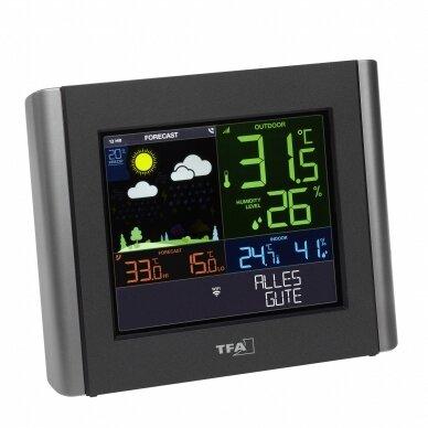 Bevielė orų stotelė su Wifi TFA VIEW METEO 2