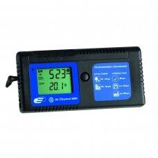 CO2 matuoklis AIRCO2NTROL 3000 TFA su aliarmu ir 24 valandų duomenų įrašymo funkcija