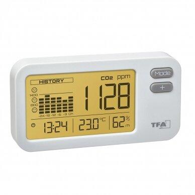 CO2 matuoklis AIRCO2NTROL COACH TFA su 24 valandų duomenų įrašymo funkcija 2