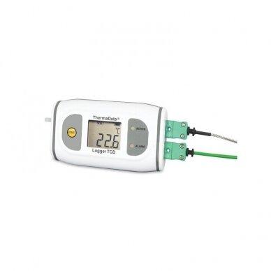 Daugkartinis registratorius aukštos temperatūros matavimams su LCD ThermaData ETI 292-571