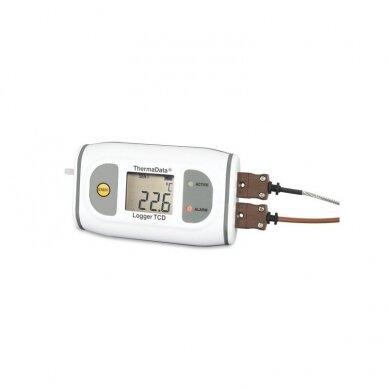 Daugkartinis registratorius aukštos temperatūros matavimams su LCD ThermaData ETI 292-501
