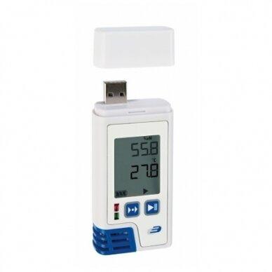 Sertifikuotas daugkartinis temperatūros ir drėgmės registratorius LOG210 TFA 31.1058.02 (Pagamintas Vokietijoje!)