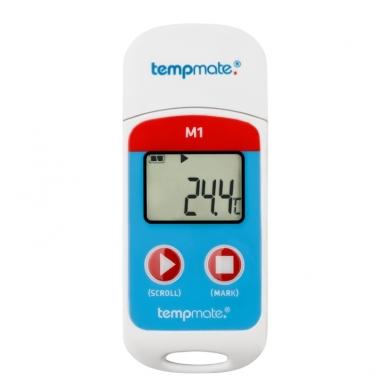 Daugkartinis temperatūros registratorius su METROLOGINE PATIKRA TEMPMATE M1 USB