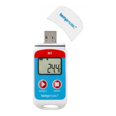 Daugkartinis temperatūros registratorius su METROLOGINE PATIKRA TEMPMATE M1 USB 2
