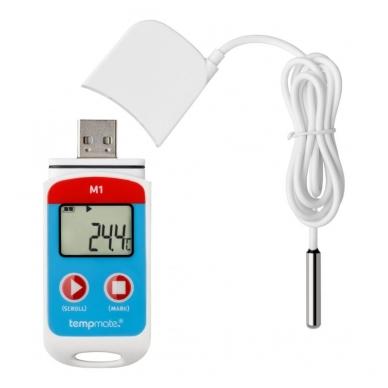 Daugkartinis temperatūros registratorius su METROLOGINE PATIKRA TEMPMATE M1 USB 3