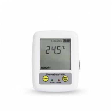 Daugkartinis temperatūros registratorius ThermaData TD su vienu vidiniu sensoriumi, max/min funkcija, aliarmu ir WiFi ETI 298-001