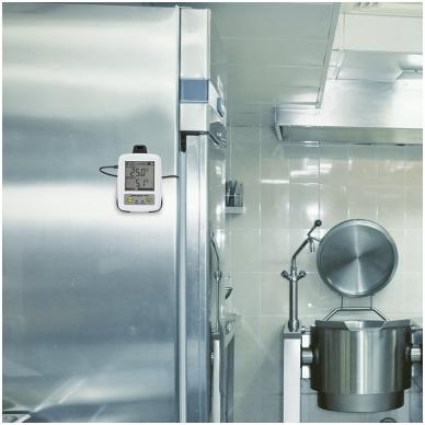 Daugkartinis temperatūros registratorius ThermaData TD1F su dviejų kanalų termistoriais, max/min funkcija, aliarmu ir WiFi ETI 298-011 4