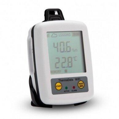 Daugkartinis temperatūros ir drėgmės registratorius ETI ThermaData Wifi HTD 2