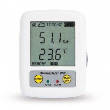 Daugkartinis temperatūros ir drėgmės registratorius ETI ThermaData Wifi HTD