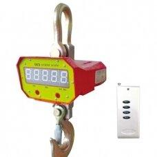 Elektroninės kraninės svarstyklės YB-752-3t iki 3000 kg svorio. Padalos vertė: 0,5 kg