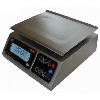 Sertifikuotos Elektroninės svarstyklės su metrologine patikra, L-EQ iki 4kg svorio. Padalos vertė: 1 g. Platformos matmenys: 245x190 mm