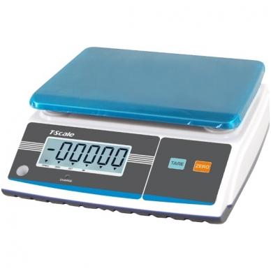 Sertifikuotos Elektroninės svarstyklės su metrologine patikra ZHW-6K-MR iki 6kg svorio. Padalos vertė: 2 g. Platformos matmenys: 204x263 mm