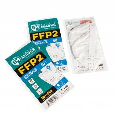 Pristatymas 1-2 d.d.! Sertifikuota apsauginė veido kaukė - respiratorius FFP2 10 vnt., 4 sluoksniai 3