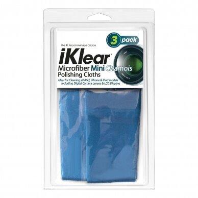 """iKlear kelioninio dydžio """"Chamois"""" mikropluošto  šluostės (3 vnt.)"""