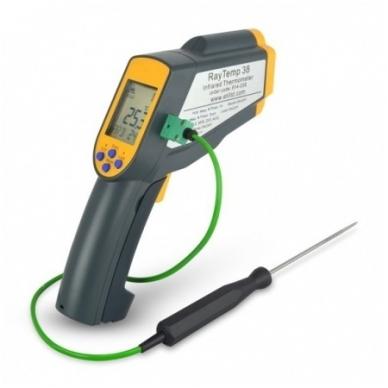 Infraraudonųjų spindulių termometras ETI RayTemp 38 (nuo -64°C iki +1400°C)