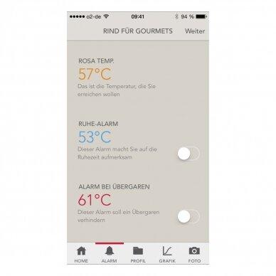 Termometras skirtas matuoti maisto temperatūrą su išmaniuoju telefonu TFA Thermowire 14-1505-01 4
