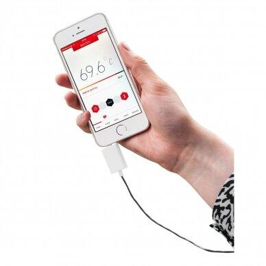 Termometras skirtas matuoti maisto temperatūrą su išmaniuoju telefonu TFA Thermowire 14-1505-01 2