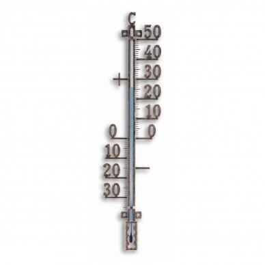 Metalinis lauko termometras TFA 12-5002-51 (antikinės vario spalvos)