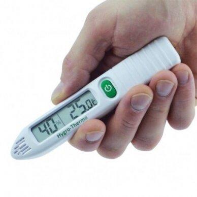 Nešiojamas termometras - higrometras oro temperatūrai matuoti  ETI 810-190 3