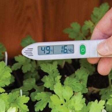 Nešiojamas termometras - higrometras oro temperatūrai matuoti  ETI 810-190 4
