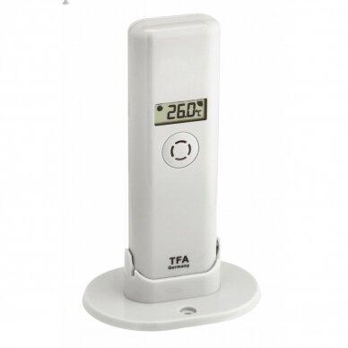 Klimato stebėjimo sistema su lietaus ir vėjo matuokliu TFA WEATHERHUB 3