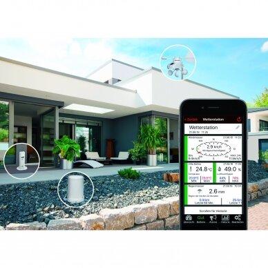 Klimato stebėjimo sistema su lietaus ir vėjo matuokliu TFA WEATHERHUB 7