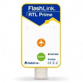 Pakuotė! Vienkartinis realaus laiko temperatūros registratorius DeltaTrak FlashLink® RTL Prime In-Transit - 20 vnt