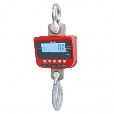 Sertifikuotos elektroninės kraninės svarstyklės Tscale TN-3T iki 3000 kg svorio. Padalos vertė: 1 kg.