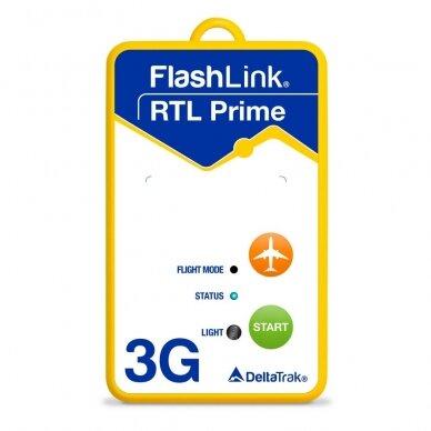 Pakuotė! Vienkartinis realaus laiko temperatūros registratorius DeltaTrak FlashLink® RTL Prime 3G In-Transit - 20 vnt