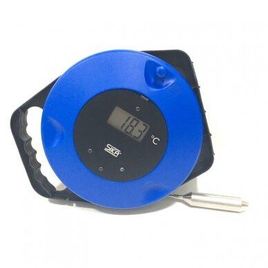 Pramoninis termometras CargoTemp Roller, skirtas biriems ir skystiems produktams, su itin ilgu zondu (10 m) 2