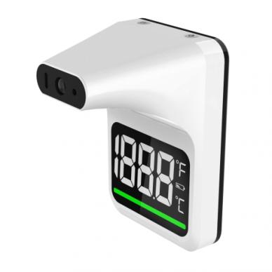 Pristatymas 1-2 d.d.! Automatinio tikrinimo bekontaktis infraraudonųjų spindulių kaktos termometras Alphamed UFR101