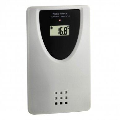Skaitmeninis radijo bangomis valdomas XL dydžio laikrodis su vidaus ir lauko termometru TFA 60-4510-01 3
