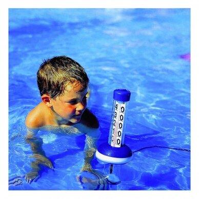 Skystinis baseino/vandens telkinių termometras su plūduru TFA Neptune 40-2003 2