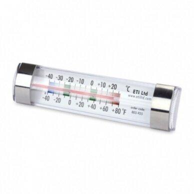 Šaldytuvo-šaldiklio termometras su spiritiniu užpildu su METROLOGINE PATIKRA ETI 803-925