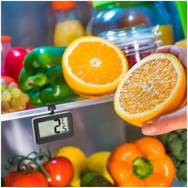 Skaitmeninis pakabinamas šaldytuvo termometras su METROLOGINE PATIKRA TFA 30-2028-01 6