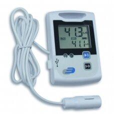 Sertifikuotas daugkartinis temperatūros ir drėgmės registratorius TFA LOG110-EXF 31-1045 (Pagamintas Vokietijoje)