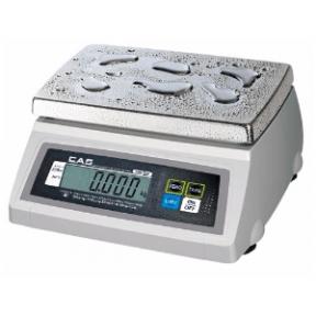 Sertifikuotos Elektroninės svarstyklės su metrologine patikra, CAS SW-1S iki 2 kg svorio. Padalos vertė: 1 g. Platformos matmenys: 240X190 mm