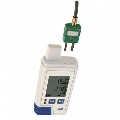 Sertifikuotas daugkartinis temperatūros registratorius TFA LOG200 TC 31-1060-02 (Pagamintas Vokietijoje)