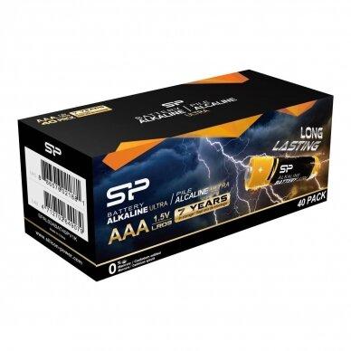 SILICON POWER AAA tipo LR03 šarminės baterijos - pakuotėje 40 vnt.