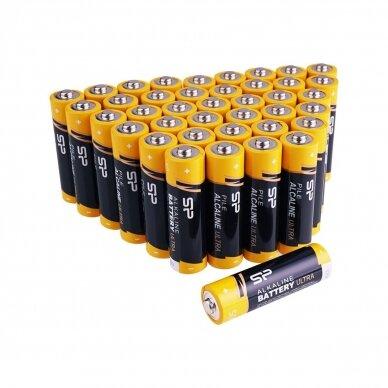 SILICON POWER AAA tipo LR03 šarminės baterijos - pakuotėje 40 vnt. 2