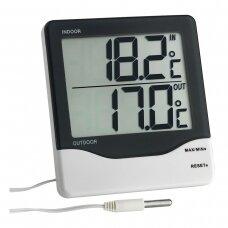 Skaitmeninis vidaus ir lauko termometras su zondu SU METROLOGINE PATIKRA TFA 30-1011