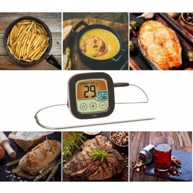 Skaitmeninis BBQ kepsnių ir grilio termometras SU METROLOGINE PATIKRA TFA 2