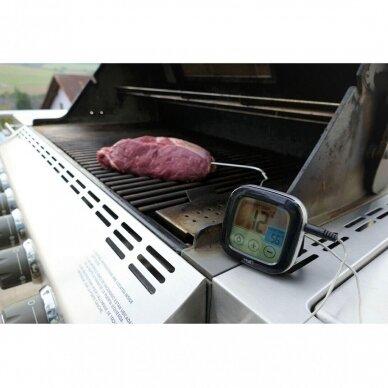 Skaitmeninis BBQ kepsnių ir grilio termometras SU METROLOGINE PATIKRA TFA 3