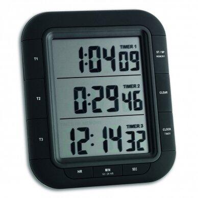 Skaitmeninis trijų intervalų laikmatis TRIPLE TIME XL TFA 38-2023