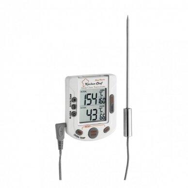 Skaitmeninis grilio-orkaitės termometras BBQ TFA 14-1503