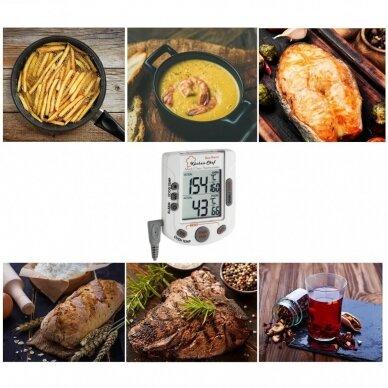 Skaitmeninis grilio-orkaitės termometras SU METROLOGINE PATIKRA BBQ TFA 14-1503 2