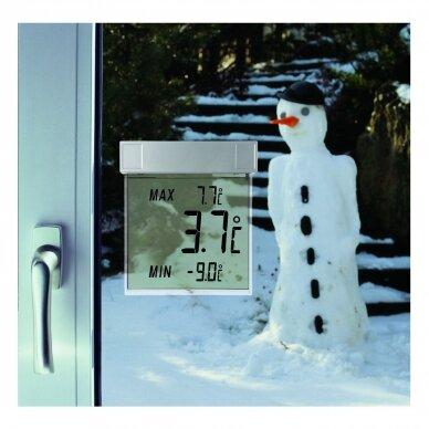 Skaitmeninis lauko termometras tvirtinamas prie lango TFA VISION 3